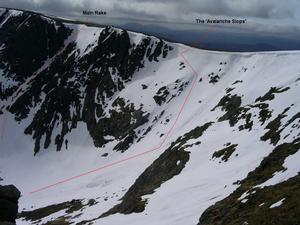 The 'Avalanche Slope', Beinn a' Bhuird: Coire an Dubh Lochain: April 2007 Photo: Scott Muir