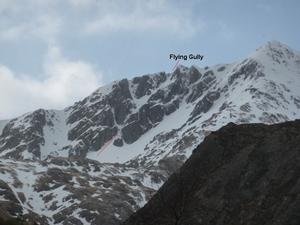 Flying Gully, Sgùrr an Lochain, Kintail: Coire and Lochain from the A87 Photo: Scott Muir