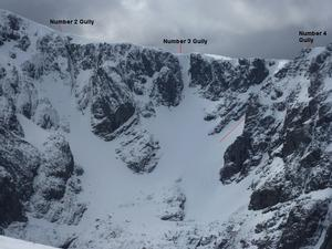 Number 4 Gully, Ben Nevis: Coire na Ciste, from Carn Mor Dearg Photo: Scott Muir