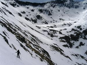 Coire Leis, Ben Nevis: Descent tracks in Coire Leis from the slopes of Carn Mor Dearg Photo: Scott Muir