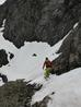What was left of the traverse into Observatory Gully, June 21st 2014  Photo: Scott Muir